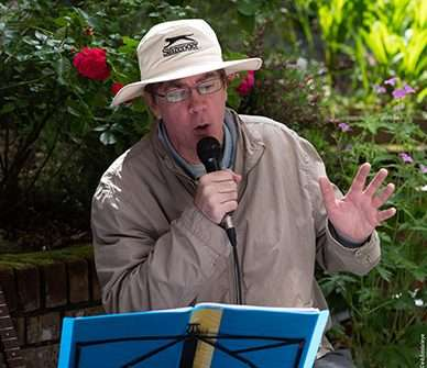 a singer performs at Dunsland House